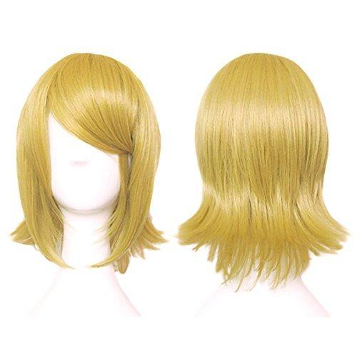 5cm heat-resistant high-quality Genuine] Senbonzakura Rin gold mixed blonde blonde CaseEden original 4-piece set (+ stand + wig hair net two) Vocaloid CaseEden (japan import) (Senbonzakura Cosplay Kostüm)