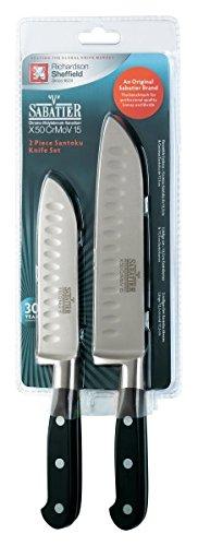 Jeu de couteaux Richardsons Sheffield V Sabatier de 2pièces Santoku, 12,5cm et 17,5cm