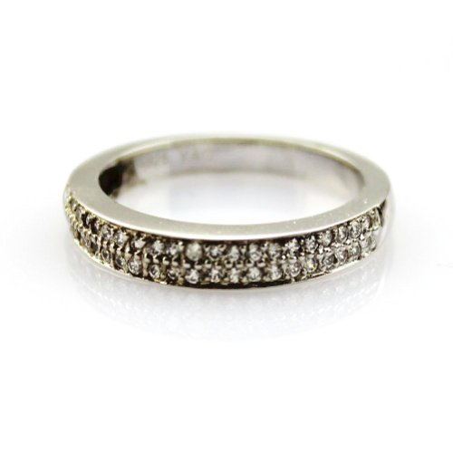 Jade Angel Anello di Fidanzamento Argento Sterling con Pavé di Diamanti Sintetico