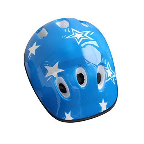 , Multi-Sport-Helme für Outdoor-Mountainbike, Fahrrad-/Skateboard/Roller/Inline-Skate/Rollerblading Schutzausrüstung (4-16 Jahre), blau ()