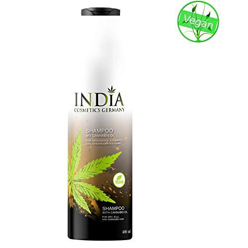 Shampoo mit Cannabis Öl in Premiumqualität 400ml XXL Größe - Feuchtigkeitsspendende Flüssige Hand Waschen