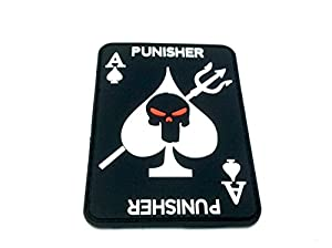 As de Pique Punisher PVC Paintball Airsoft Moral Patch