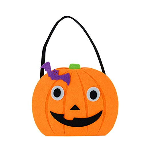 KDGB Halloween DIY Kürbis Süßigkeitstasche Tote Eimer Korb Halloween Dekoration Ornament Requisiten Party Festival Kinder Geschenk Taschen (5)