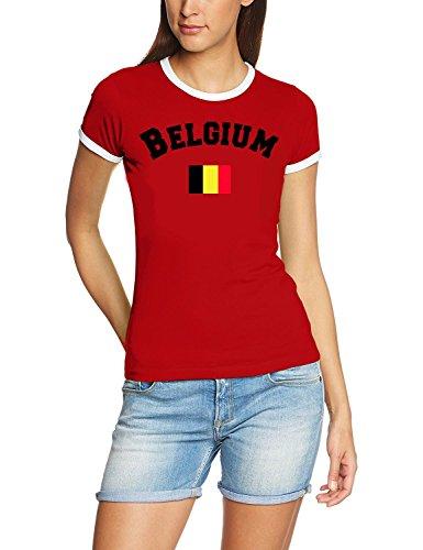 Belgien T-Shirt Damen Rot, Gr.M