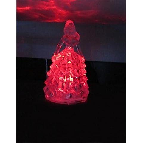 Bling siete colores luz diseño de la princesa de plástico noche (x1pcs color al azar)