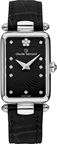 Claude Bernard Women's 20502 3 NPN2 Dress Code Analog Display Swiss Quartz Black Watch
