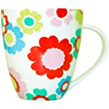 Cath Kidston Electric Flowers Crush Shaped Mug, Fine China
