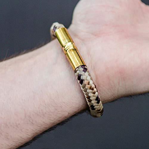 Bullet Band Desert Camo | Armband mit 9mm Hülsen und Paracord -
