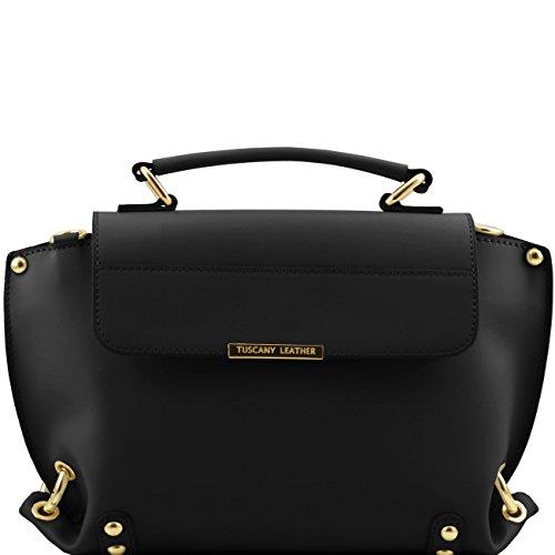 Tuscany Leather TL Bag - Sac à main en cuir Ruga et bandoulière amovible Jaune Sacs à main en cuir Noir