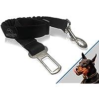 8fbe3873db7369 ... cintura di sicurezza comodo e sicuro per viaggiare con cani -  flessibile e regolabile - fatto per quasi ogni razze di cani e modelli di  automobile