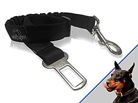 Professional bungee dog safety harness – comfortable and safe seat belt for traveling with dogs – flexible and adjustable - made for nearly every dog breeds and car types