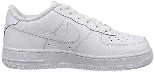 Nike Air Force 1 (Gs), Chaussures de Sport Garçon (Blanco/Blanco)