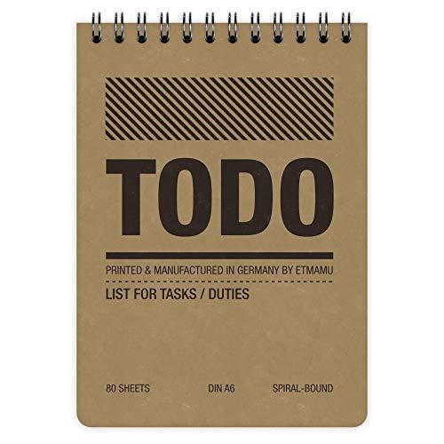 etmamu 455 To-Do-Liste A6, 60 Blatt, 3-spaltig, Aufgabenliste für Erledigungen und Zeit-Management