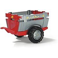 Rolly Toys 122097 rollyFarm Trailer   Einachsanhänger mit öffenbarer Heckklappe   passend für rolly toys Traktoren   für Kinder ab 2,5 Jahren   Farbe rot/grau
