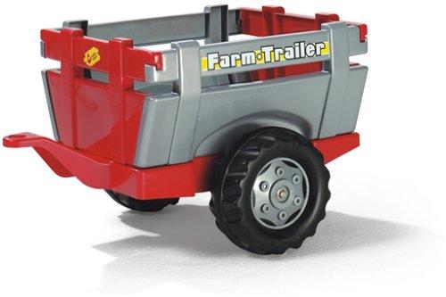 Rolly Toys Anhänger Rolly Toys 122097 rollyFarm Trailer | Einachsanhänger mit öffenbarer Heckklappe | passend für rolly toys Traktoren | für Kinder ab 2,5 Jahren | Farbe rot/grau