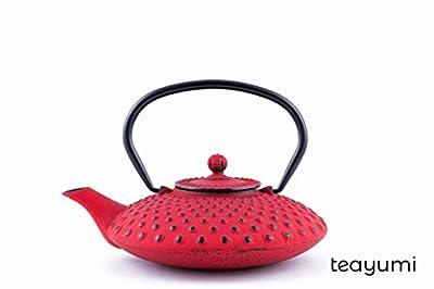 teayumi–Chiyo/Théière en fonte Kambin 0,8l rouge