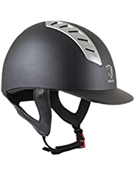 Horka seguridad casco de equitación flecha carbono, negro, 59 cm