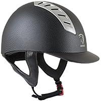 Horka seguridad casco de equitación flecha carbono, negro
