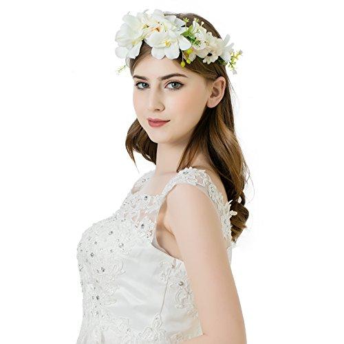 and Hochzeit Haarkranz Blume Krone (Cremeweiß) (Blume-stirnband)