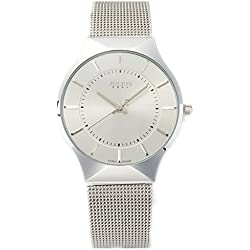 JULIUS JA577M Classic Casual Stainless Steel Analogue Quartz Wrist Watch (Silver)
