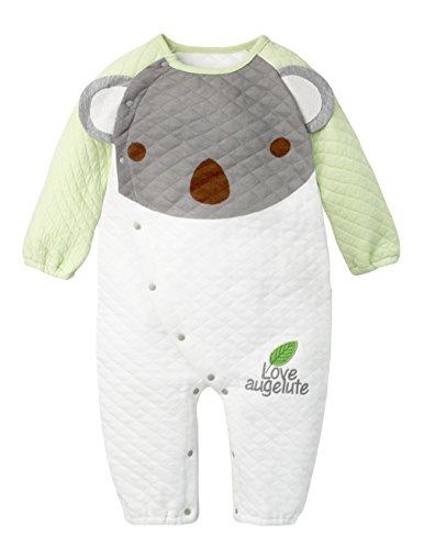2f7f13478161f Y-BOA Grenouillère Barboteuse Pyjama Dors Bien Enfant Bébé Combinaison  Hiver Automne Vert Size1