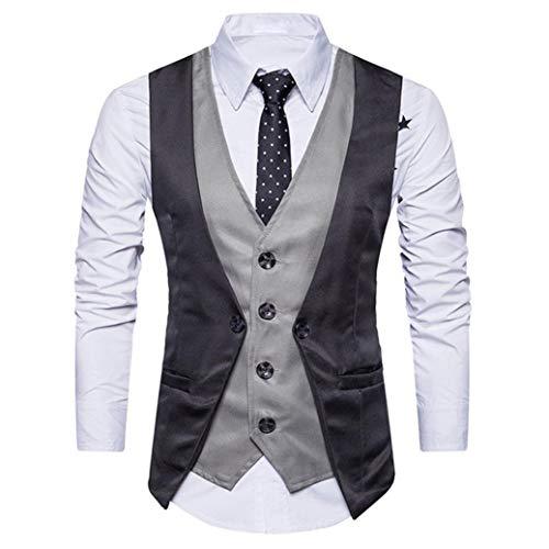 Winterjacke Herren Manadlian Männer Warm Vest+Mode Shirt 2 Stück Formal Tweed Scheck doppelt Breasted Weste Retro Slim Fit Passen Jacke
