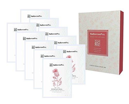 Ton Oil Free Moisturizer ([KimSohyungFull] BONCHO Real Safflower Petals Sheet Mask (23ml x 10 Packets) - Contains 4% Real Natural Safflower Petals, Innovative 3-layer 100% Natural Botanical Sheet, Anti-Aging)