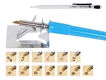 Brandmalkolbenset BM245 inkl. Bleistift (16 Teile)