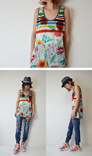Desigual Ts_amarillo, T-Shirt Femme Jaune