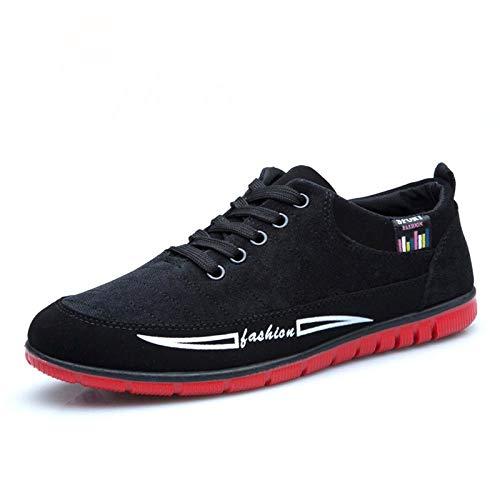 Jessica Simpson Espadrille (HOTSTREE Fashion Men Casual Shoes Summer Autumn Breathable Canvas Sneakers Shoes Men Footwear Lace Up Espadrilles Male Flats Black 9)