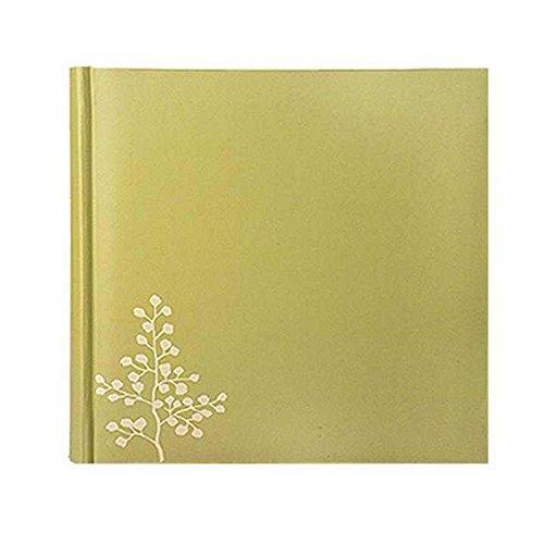 FOOHAO- Albums photo avec zone d'écriture mémo, photos 4x6 '' 200, couverture PU vert, noyau écologique, pages de fentes