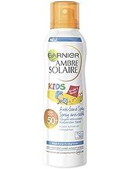 Garnier Ambre Solaire Anti-Sand Sonnenschutz Spray Kids / Sonnenspray für Kinder extra wasserfest / LSF 50+, 1er Pack - 200 ml