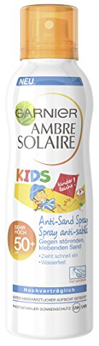 Garnier Ambre Solaire Anti-Sand Spray Kids wasserfest/LSF 50+, 1er Pack (1 x 200 ml)
