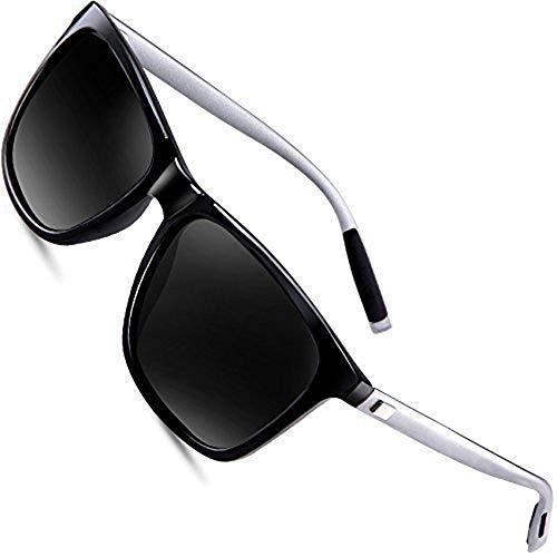 wearPro Sonnenbrille Mens Retro Vintage Polarisierte Sonnenbrille WP1003 (Schwarz, 2.16) -