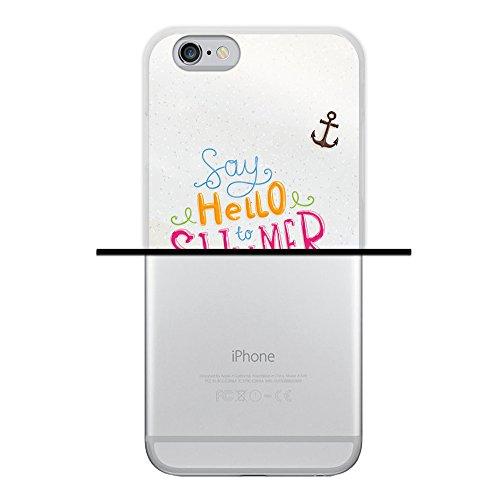 WoowCase Hülle Case für { iPhone 6 6S } Handy Cover Schutzhülle Gehirn, Musik und Wissenschaft Housse Gel iPhone 6 6S Transparent D0135