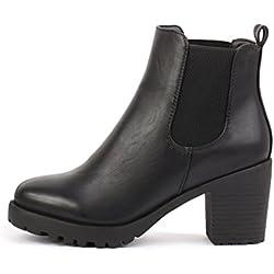 best-boots Botines para mujer, color negro, talla 37 EU