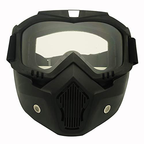 Yiph-Sunglass Sonnenbrillen Mode Neue Motorrad Helm Reiten Off-Road-Ausrüstung im Freien Harley Brille Maske High-End-Objektiv Maske Brille Männer Frauen (Color : Clear)