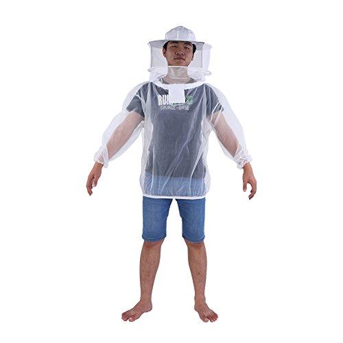 Zerodis Imker Jacke Transparent mit Kapuze Schleier Bienenzucht Werkzeuge Zubehör Imkerei ()