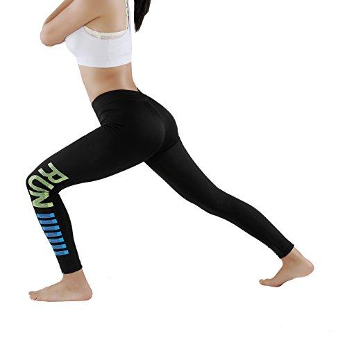 GoVia leggins para damas pantalones deportivos largos para Training Running  Yoga Fitness transpirables con cintura alta 4136 3997377283c8