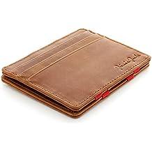 Jaimie Jacobs Magic Wallet Flap Boy Slim - l'Original - Portefeuille Magique Pour Homme En Cuir Vache Italien avec RFID Blocage