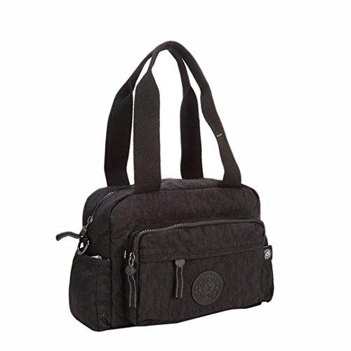 JOTHIN Hochwertige Männer und Frauen Umhängetasche lässig Tasche Messenger Bag kleine Schulranzen 26x20x11cm(L*H*W) Schwarz