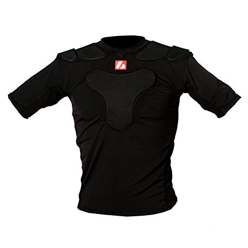 Barnett RSP-PRO 3 Profi Schulterschutz für Rugby mit 3 Schutzpolstern, schwarz (XL)