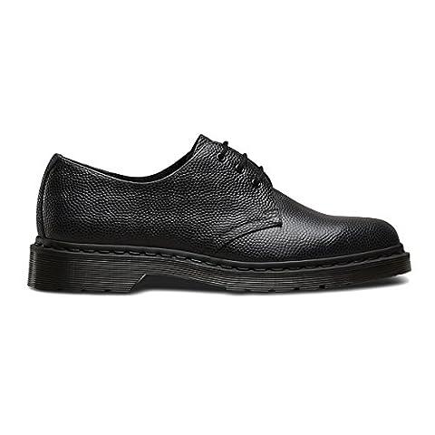 Dr.Martens Mens 1461 3 Eyelet Pebble Black Leather Shoes 8 UK