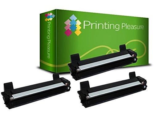 Printing Pleasure TN1050 Kit 3 Toner Compatibili per Brother DCP-1510 DCP-1512 DCP-1610W DCP-1612W HL-1110 HL-1112 HL-1210W HL-1212W MFC-1810 MFC-1910W, Nero, 3 Pezzi