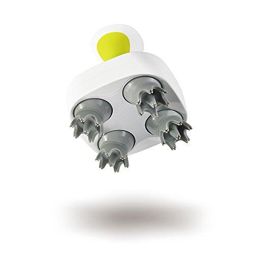 Breo Elektrischer Scalp Kopf Massager Portable Nachahmung der menschlichen Finger Electric Waterproof mit austauschbaren weichen Bürste für Kopfhaut Kopf Spannung Stress Relief (Kopf Weichen, Austauschbaren)