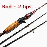 Florasun Fishing Rod fishing rod Kohlenstoffrute 1,8 m Dehnungsrute 2,1 m extra schnelle Aktion M 2...