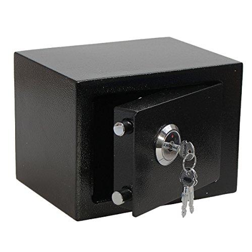 SAFEPRINT Tyon Caja fuerte Caja fuerte con llave doble Candado, Mini caja fuerte (resistente al agua, a fuego pared caja fuerte Barba (para homesafe 22x 17x 17cm