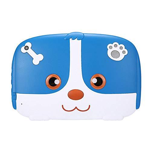 Tenlso 7 Pollici Kids Tablet con Custodia in Silicone 8G con WiFi Tablet per Bambini Supporto per l'apprendimento e Il Gioco Facebook, Youtube, Twitter -Blu