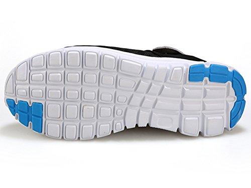 Unisex-Erwachsene Pantoffel Clogs Schuhe Breathable Mesh Hausschuhe AntiRutsch Flach Sandalen Slippers Herren Mules Schwarz Blau