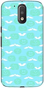 The Racoon Grip printed designer hard back mobile phone case cover for Motorola Moto G Play 4th Gen. (Cyan Evil)